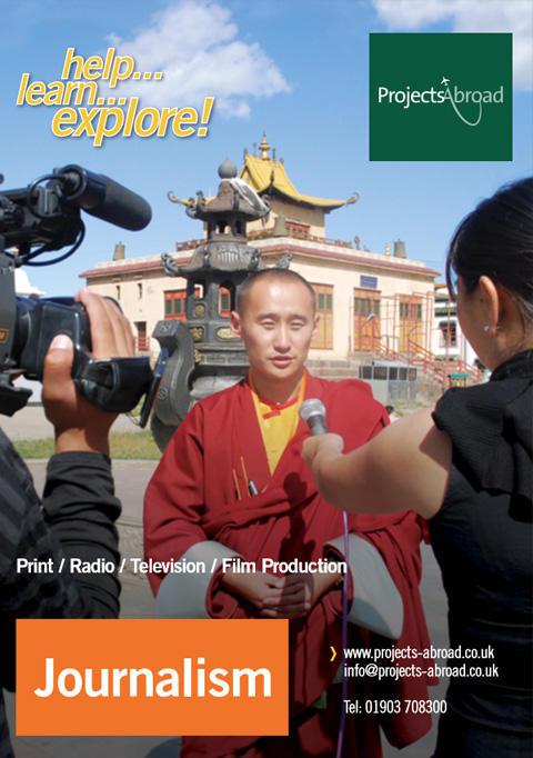 Projects Abroad Leaflet - Journalistik