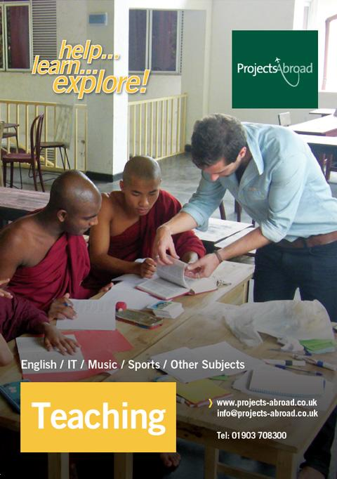 Projects Abroad Leaflet - Undervisning