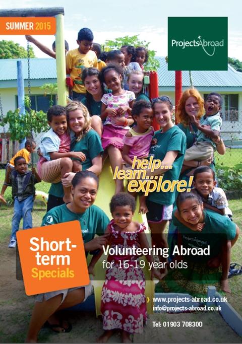 Projects Abroad Leaflet - Ungdomsvolontär