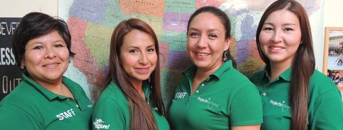 Våra experter i reseteamet: Ana Silvia, Tatiana, Blanca and Jesica