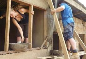 Volontär i Ghana : Bygg