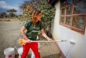 Volontär i Tanzania : Bygg
