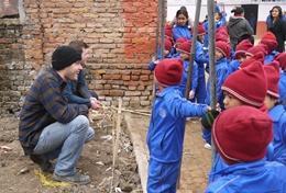 Volontär i Nepal : Bygg