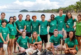 Volontärarbete Utomlands - volontärer gruppbild