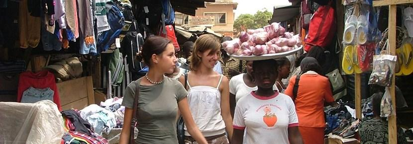 Volunteers help small businesses on the International Development volunteer project