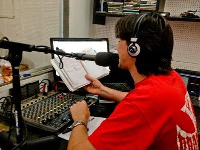 Broadcast journalism volunteer hosts live radio show in Argentina