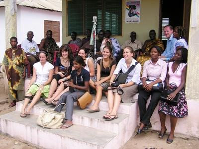 Group of interns working in the journalism project in Tanzania with Projects Abroad