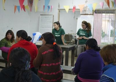 Volunteer educate children on Human Rights issues in Argentines