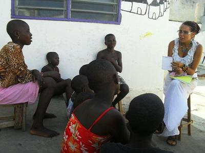 Intern on the Law & Human Rights project educating children on social justice issues in Togo