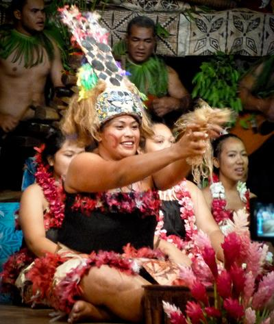 A traditional Samoan festival featuring a local woman