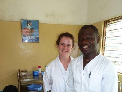 Volunteer on the Dentistry project working in a hospital in Lome, Togo