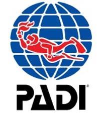 Logotyp för PADI certifierad dykutbildning