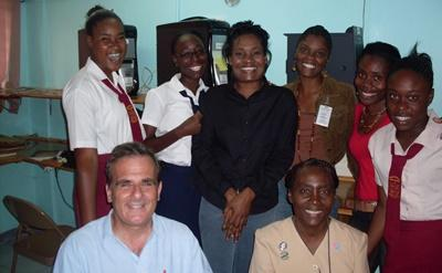 Volunteers in a center used for the HIV/AIDS outreach project in Jamaica