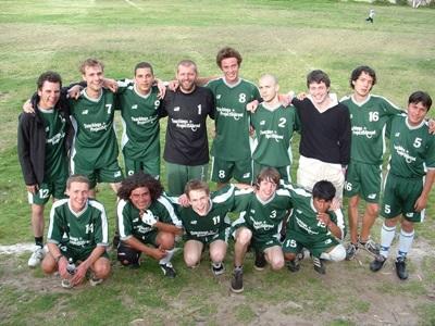 Gap year volunteers coach a school soccer team in the Sacred Valley of Peru