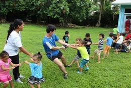 Volontärarbeta med skolidrott utomlands : Samoa