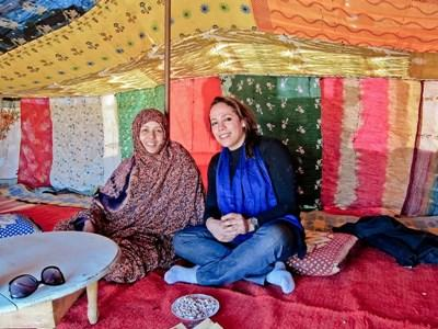 Volunteer lives with a nomadic family learning Tamazight with Projects Abroad