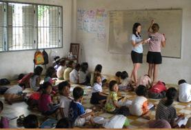 Volontär i Kambodja : Undervisning