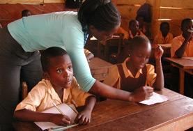 Volontär i Ghana : Undervisning