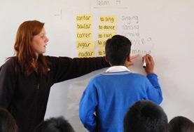 Volontär i Peru : Undervisning