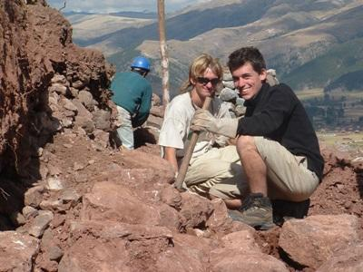 Teen volunteers on an Archaeology project dig in the Sacred Valley of Peru
