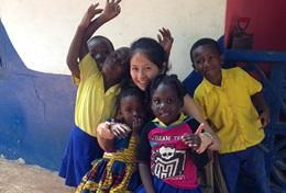Volontär i Ghana : Omsorg