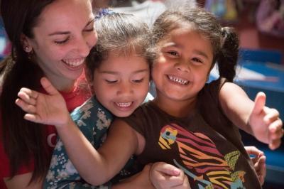 volontärarbete utomlands - leende barn