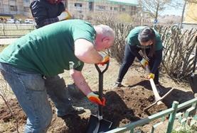 Volontärarbete Utomlands - vuxenvolontärer gräver