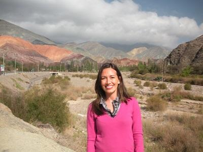 Volunteer travelling during her project in Argentina, South America