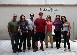 Staff and Volunteers at the Projects Abroad in Cochabamba, Bolivia