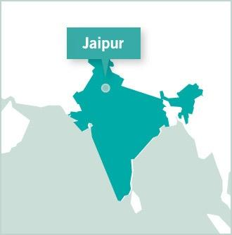 Map of the volunteer project destination in Jaipur, Northern India with Projects Abroad