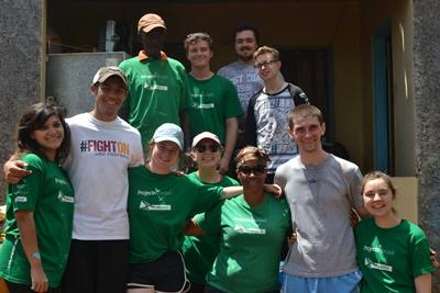 Photograph of group of volunteers and staff in Jamaica
