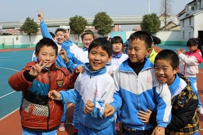 A group of Chinese children at one of our partner schools