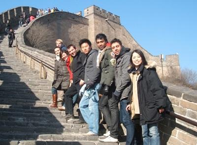 Volunteers in China visit the Great Wall on their free time with Projects Abroad