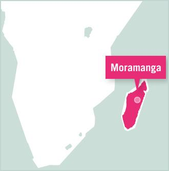 Karta över Madagaskar med