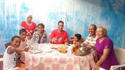 A local host family in Rabat, Morocco