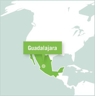 Map of volunteer project placement in Guadalajara, Mexico wit Projects Abroad