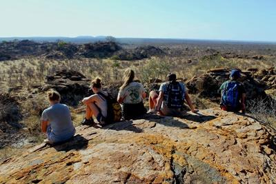 A beautiful view from atop a hill in Botswana, Southern Africa